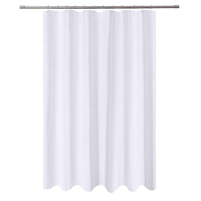 Amazon Com N Y Home Extra Long Shower Curtain Liner Fabric 72 X