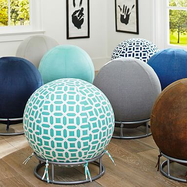 Rockin' Roller Desk Chairs – It's time to have a ball in your study space. Covered in your choice of supersoft faux fur, this inflatable exercise ball comes with a foot pump and can be used with or without the included metal stand.