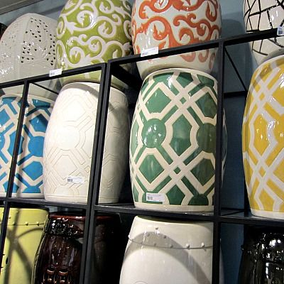 Emissary Ceramic Garden Stools | Extra Seating Or Table For Indoor +  Outdoor Furniture