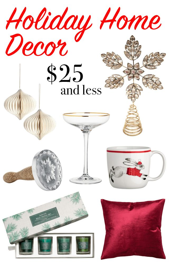 Best Christmas & Holiday Home Decor Under $25 | A La Gray; Christmas decorations