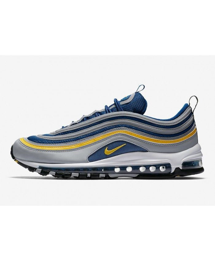 photos officielles b416f 501ca Nike Air Max 97 Chaussures Gris Jaune Bleu Noir | fly ...