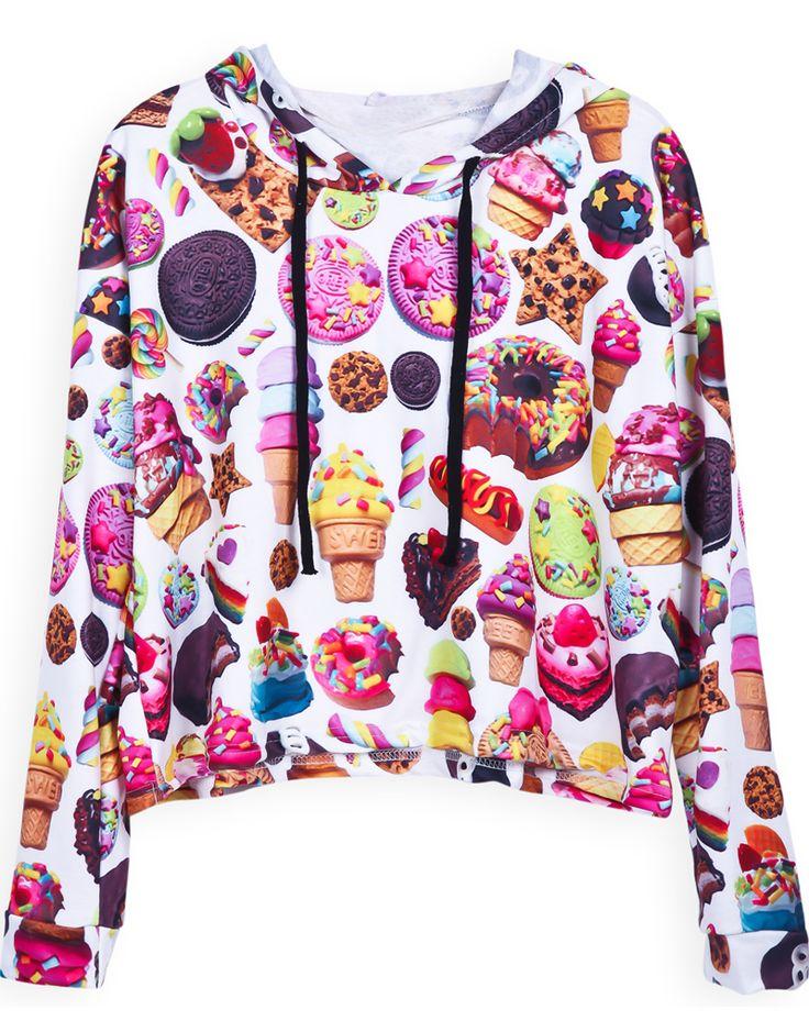 Sudadera con capucha estampada-Multicolor EUR€21.27