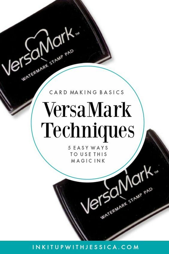 This ink pad is MAGIC! Here are 5 easy VersaMark Techniques to use in your card making.