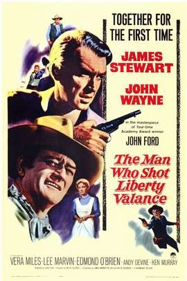 The Man Who Shot Liberty Valance released in 1962. Directed by John Ford.