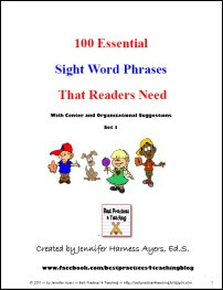Corkboard Connections: Teaching Sight Words? Try Sight Phrases Instead! Guest blog post by Jennifer Ayers