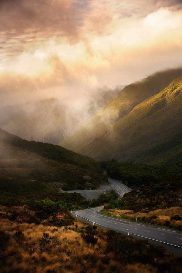 """Arthur's Pass,"" New Zealand.."