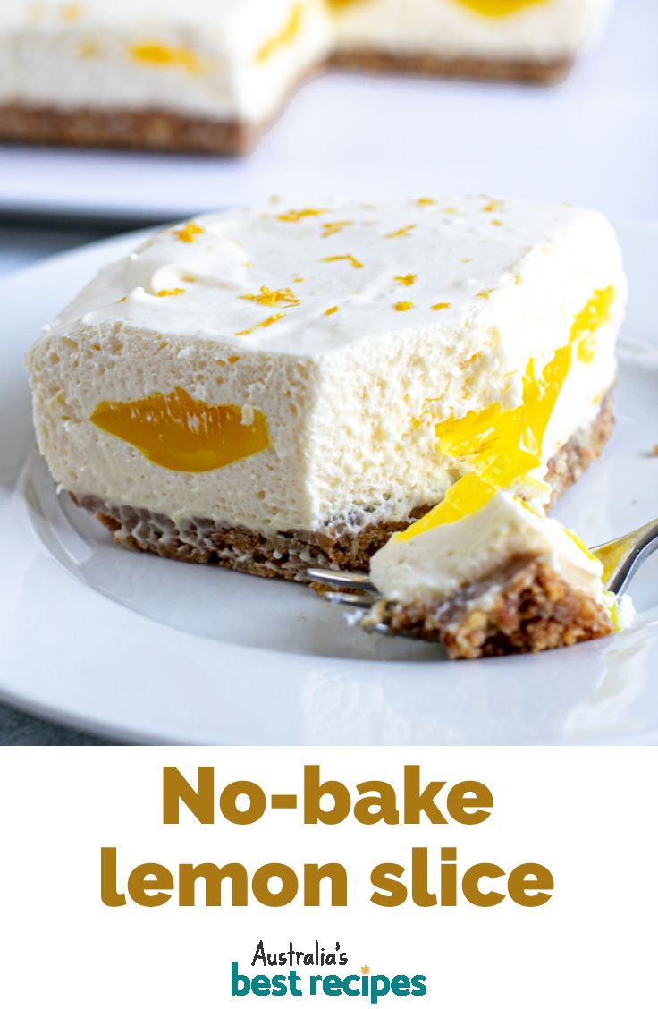 No Bake Lemon Cream Slice Recipe In 2020 Baking Desserts Delicious Desserts