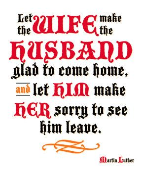 8x10 Printable Martin Luther Quote Husband & Wife by ReformGirl, $4.50