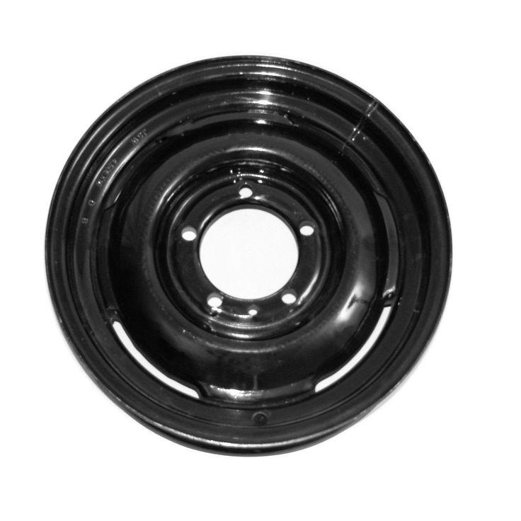 Steel Wheel, 16 inch, Black; 46-71 Willys/Jeep