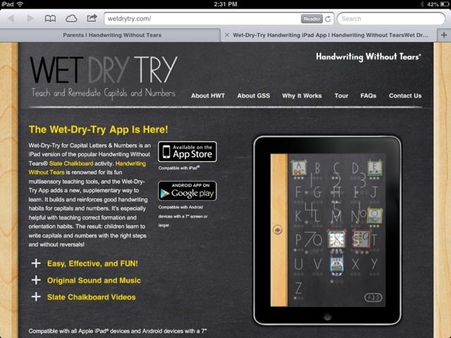 no tears handwriting apps