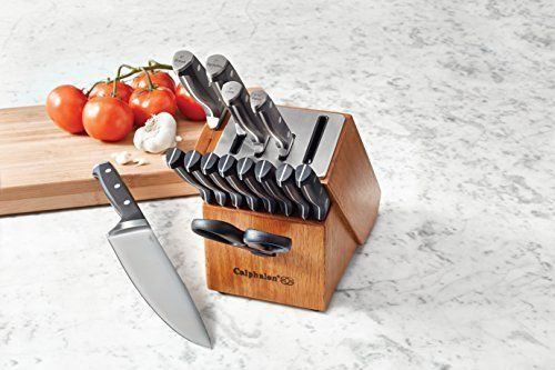 Cooking Calphalon Classic Self-Sharpening Set 15 Pcs Cutlery Knife Block Kitchen #Calphalon
