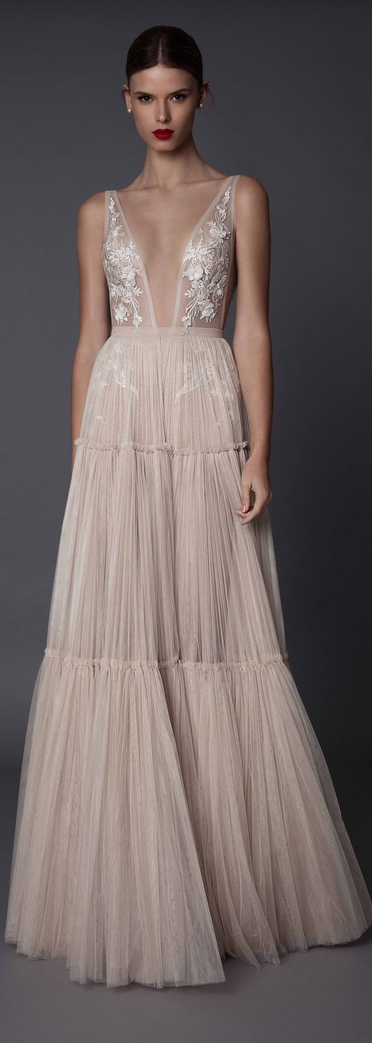 Spectacular Berta Bridal Annabel pleated dress with lace