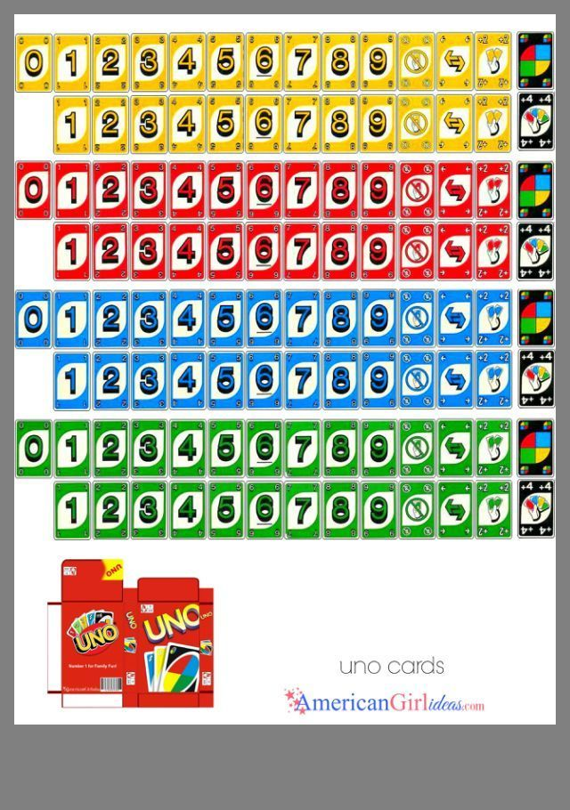 Uno Cards Diy Games Printable Cards Mini Books Game Room