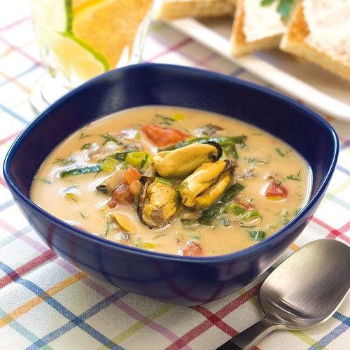 Recept på Musselsoppa med toast från - Hemmets Journal