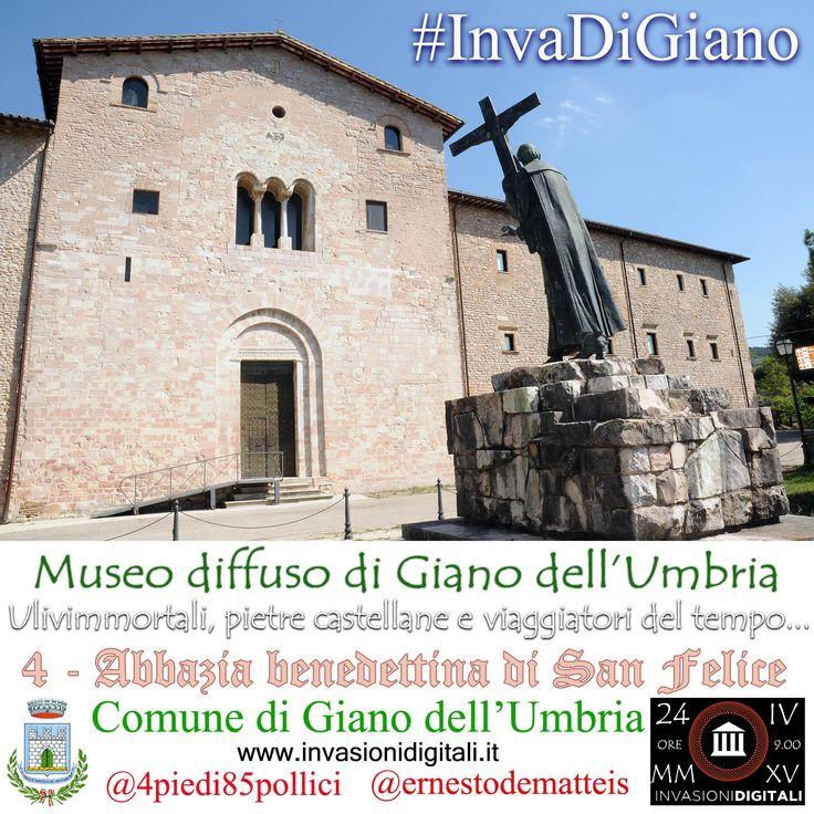 Abbazia benedettina di San Felice #InvaDiGiano2015 #invsionidigitali