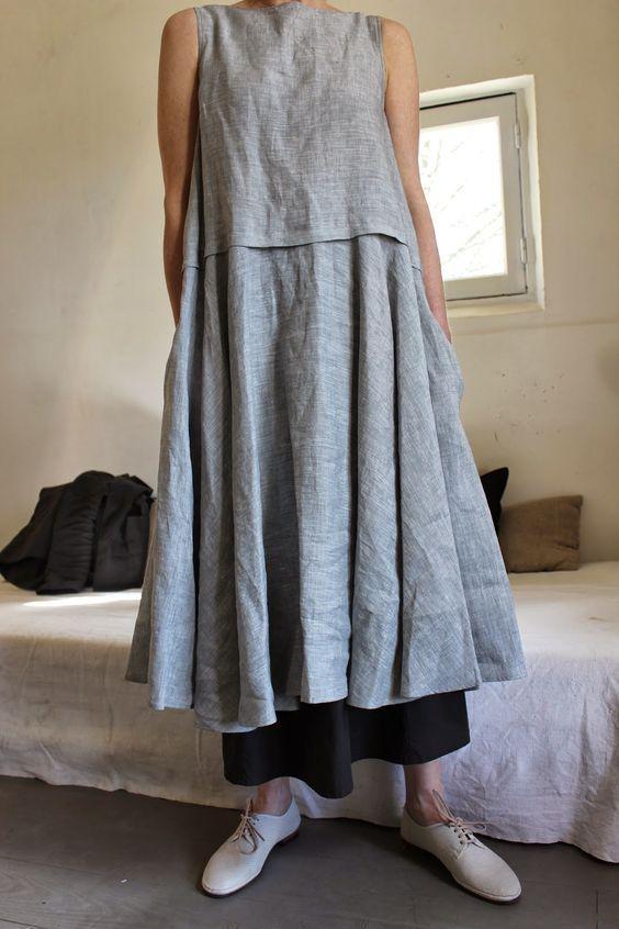 les 25 meilleures id es de la cat gorie robes en lin sur pinterest tunique en lin robes. Black Bedroom Furniture Sets. Home Design Ideas