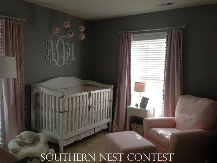 We hung the beautiful southern nest monogram above our for Above the crib decoration ideas