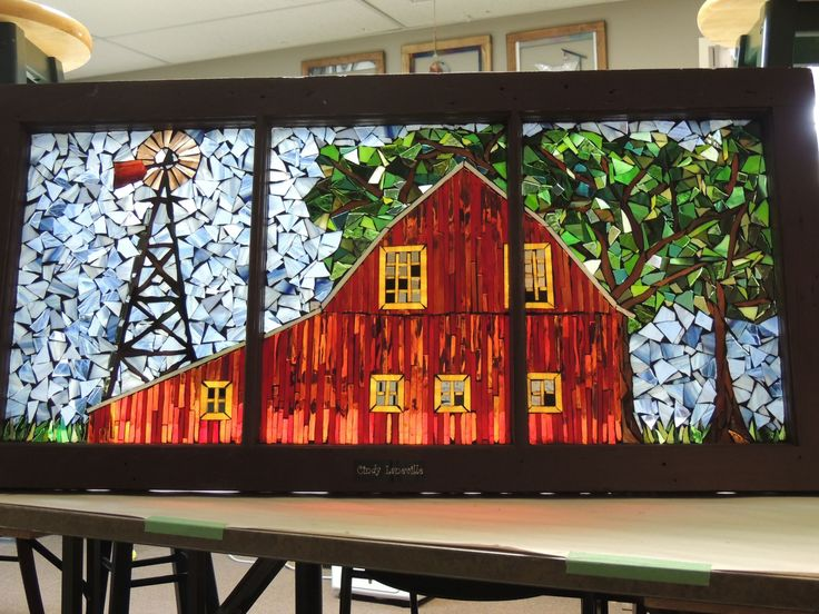 stained glass barn | cindylaneville.com | Cutting edge art!