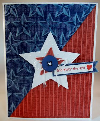 In Love with PAPER!!: OWH Memorial Day Blog Hop  love the embossing on this card!