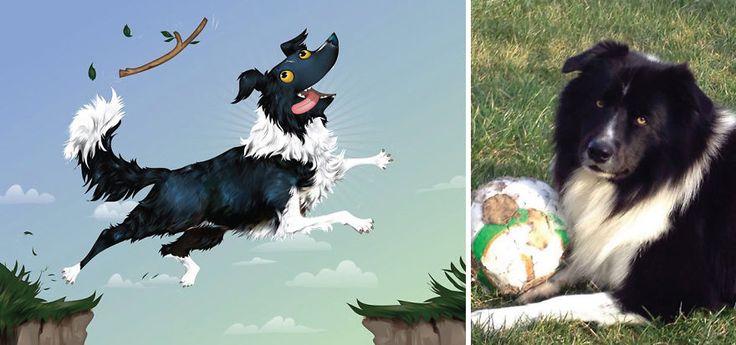Retratos de mascotas en base a su descripción