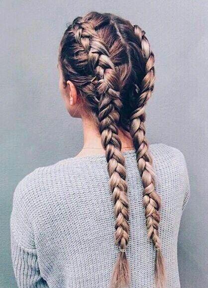 double dutch braids    @kyliieee