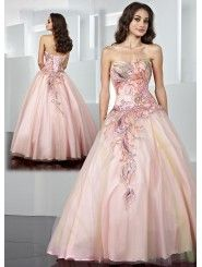 Tulle Sweetheart Embroidered Bodice Long Prom Dress