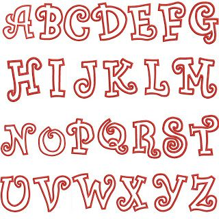 Little Peep Boutique: applique fonts