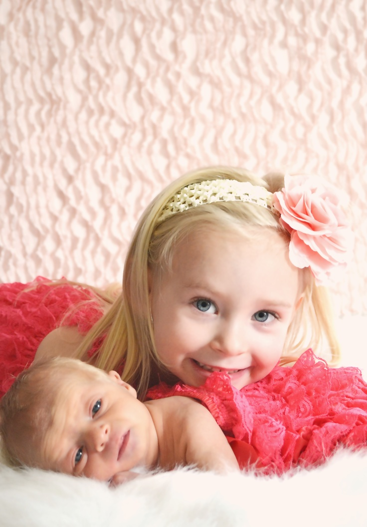 Big sister newborn photography this is so sweet