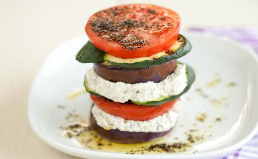 #Epicure Grilled Zucchini and Eggplant Stacks #vegetarian