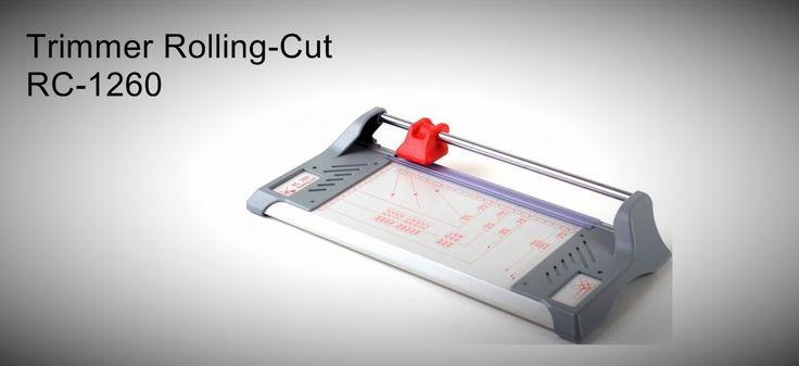 Trimmer Rolling-Cut RC-1260  Para escritórios e gráficas, com base em aço e laterais em plástico. para formatos A0   http://www.amakpost.com/guilhotinas.html?from=pinterest