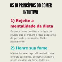 Infographic: Os dez princípios do comer intuitivo