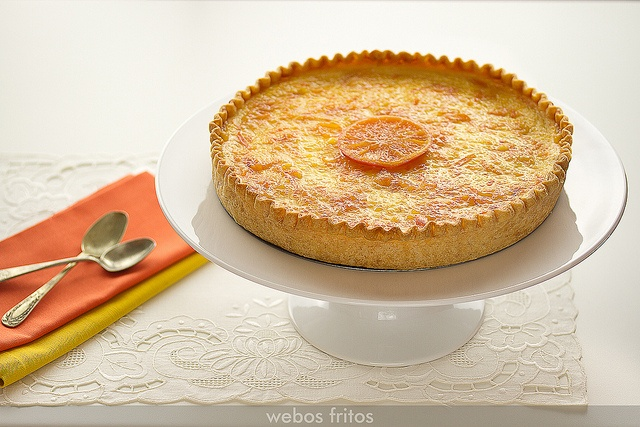 Tarta de requesón con mandarinas by webos fritos, via Flickr