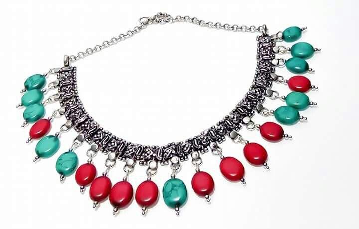 Orlov Jewellery-German silver,turcoise,coral
