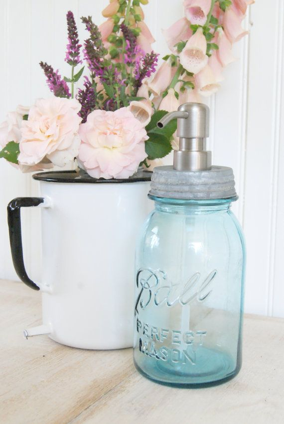 Mason Jar Soap Dispenser Diy Here