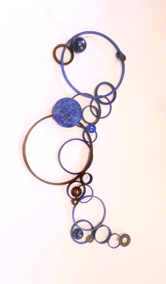 Metal wall art, large circle sculpture on Etsy, $225.00