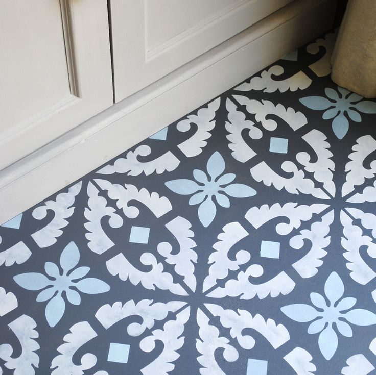 This Large Tile Inspired Stencil Is Perfect For Floors