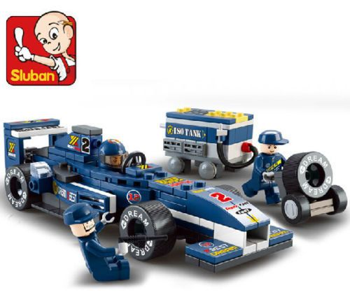 Кэндис го пластиковых игрушек строительный блок игры день рождения подарок F1 Формула автомобиль собрать двигатель синий освещение ребенок рождественский подарок набор