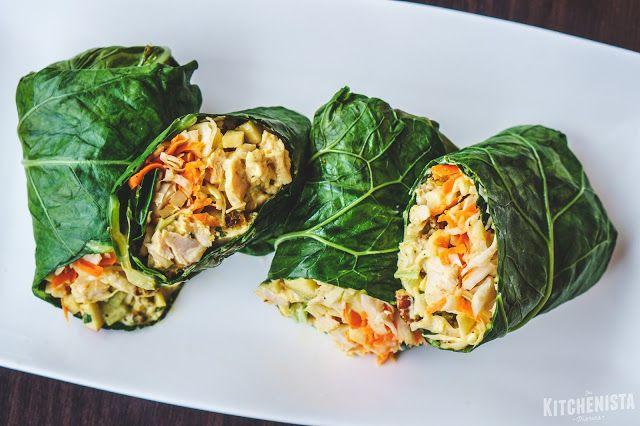 Curry Chicken Salad Collard Green Wraps - The Kitchenista Diaries