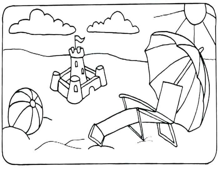 Easy Summer Coloring Pages Beach Coloring Pages Summer Coloring Pages Coloring Pages Winter
