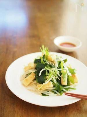 モヤシのサラダ&簡単ノンオイル和風ドレッシング by ゆーりん   レシピサイト「Nadia   ナディア」プロの料理を無料で検索