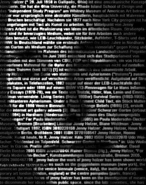 Jenny Holzer, text portraitArtists Spaces, Les Artists, Chicago Art, Texts Portraits, Plastic Art, Art Collection, Jenny Holzer, Art Artists, Conceptual Artists