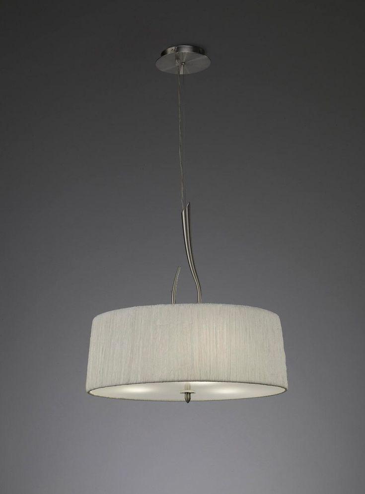 Colgante blanco níquel LUA 3 luces - La Casa de la Lámpara