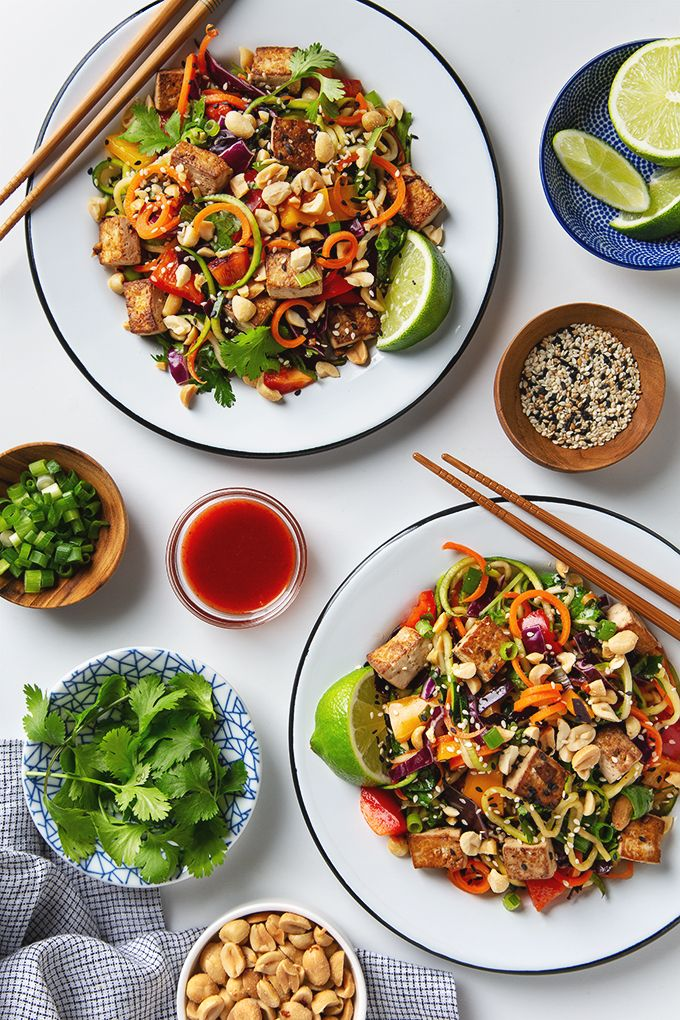 Rainbow Vegetable Pad Thai With Tofu Picklesnhoney Com Tofu Padthai Vegan Glutenfree Lunch Dinner Recipe Vegetable Pad Thai Tofu Pad Thai Pad Thai