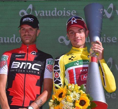 """TOUR DE SUISSE - Per la seconda volta in tre anni, lo sloveno Simon Spilak si aggiudica il Giro di Svizzera. Ottimo Damiano Caruso secondo a 48"""""""