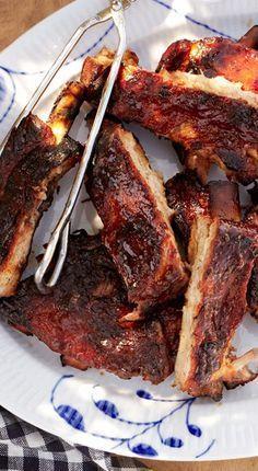 Pork spare rib brisket strips recipe