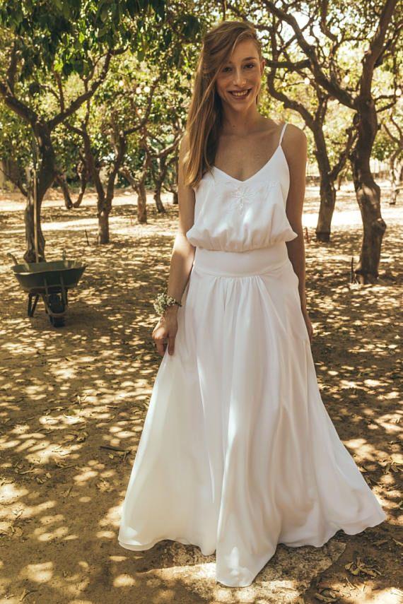 Peasant Style Wedding Dress Wedding Dresses 2017 Bohemian Etsy Boho Wedding Gowns Short Wedding Dress Modest Wedding Dresses