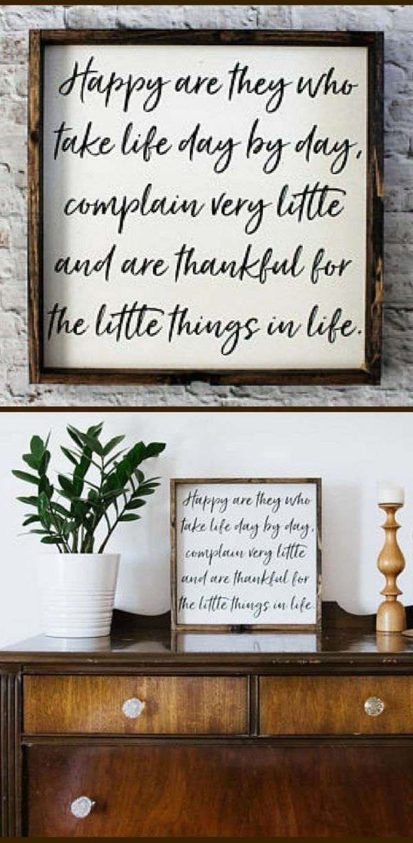 Happy Are They Wood Sign Farmhouse Signs Home Decor Rustic Signs Farmhouse Dec Living Room Decor Rustic Farmhouse Decor Living Room Country House Decor #wood #signs #for #living #room