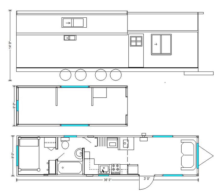 Floor Plans 8 Wide - Rich's Portable Cabins & Tiny Homes