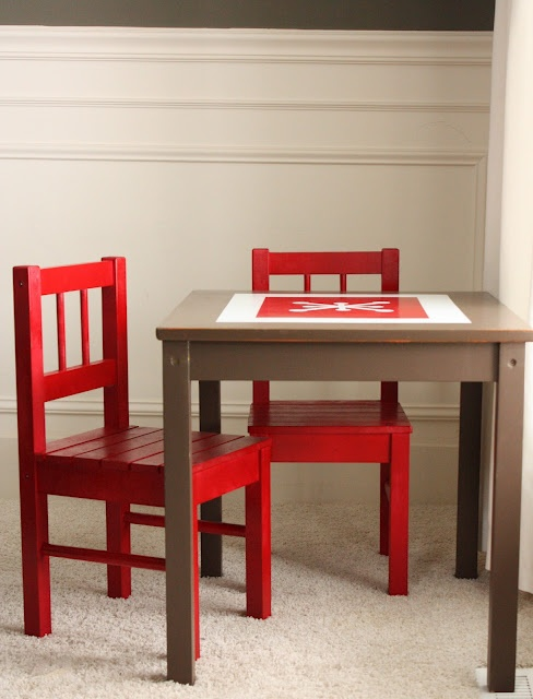 repainting kids table and chairs
