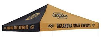 Logo Chairs Oklahoma State Cowboys Canopy by Logo. $100.95. 500 denier polyester. Dimensions: 9' x 9' Officially licensed Made in China. Canopy. School-color panelsSixteen NCAA® team logos. Beat the elements and show some school pride with the Logo Chairs® canopy. Friendly fans will know they can find shelter under the durable polyester adorned with sixteen NCAA® team logos. You can't find a better way to top off a tailgate!